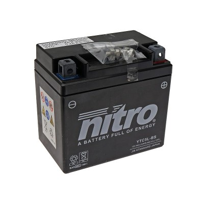 Battery Nitro YTX9-BS AGM open with acid pack