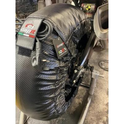 Tyrewarmers set Suprema Spina M/XXL - Carbon