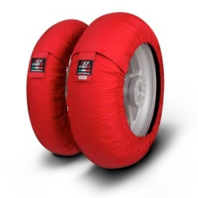 Tyrewarmers set Suprema Spina M/XL - Red